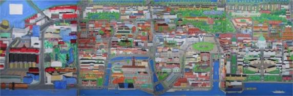 Prospekt over Købehavn fra havnen til søerne