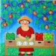 Pige med æbler