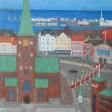 Parti fra Århus med Domkirken og Teateret