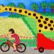 Gigi på cykeltur