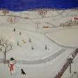 Landskab med vinter og snemand