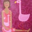 Kvinde med Flamingo.