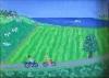 Bagatel landskab med par på cykeltur