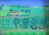 Bagatel landskab med galoptur