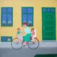 Mor på cykel