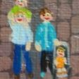 Detalje Jens, Marie, Lauge og Mathilde. Min bror og hans familie.