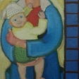 """""""Vanløse-madonna"""" - 1934. Udsnit.Udsnit. Olie på lærred - 171,6 x 115,0 cm"""