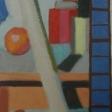 """""""Opstilling"""" – 1944. UdsnitOlie på lærred. 100,3 x 81,3 cm."""